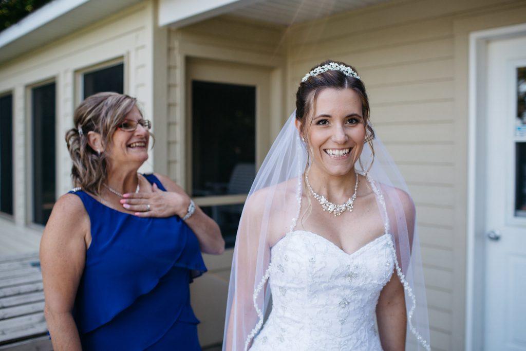 Bride at Auberge Lac-à-l'Eau-Claire, Quebec
