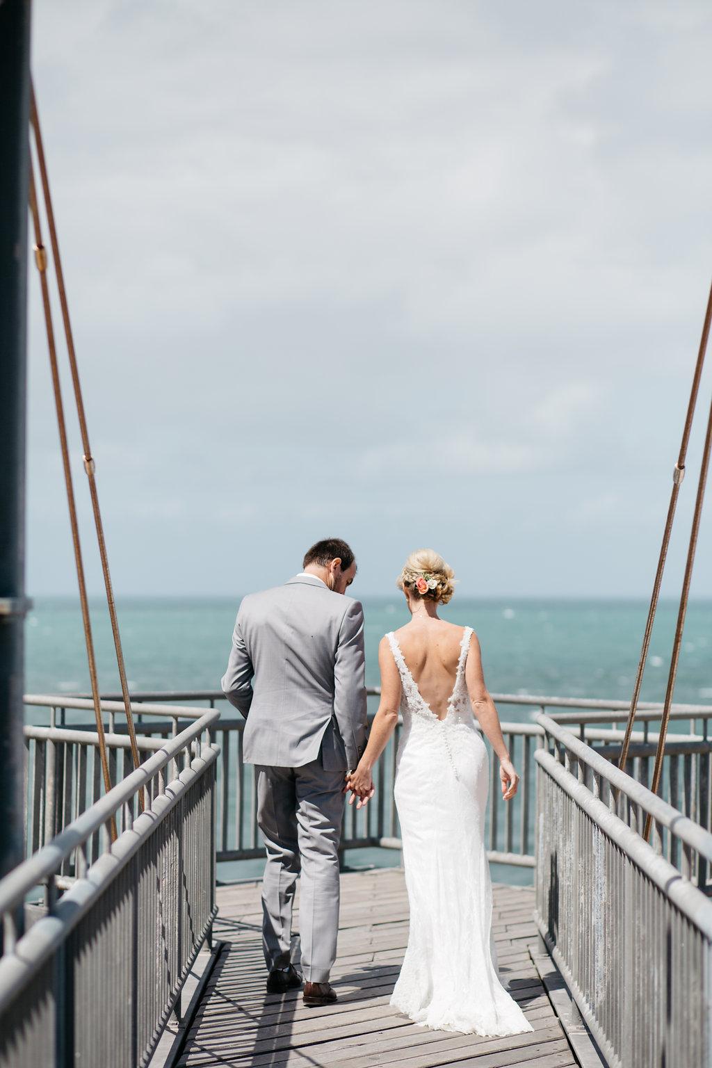 Intimate beachside wedding, Shoalwater Bay