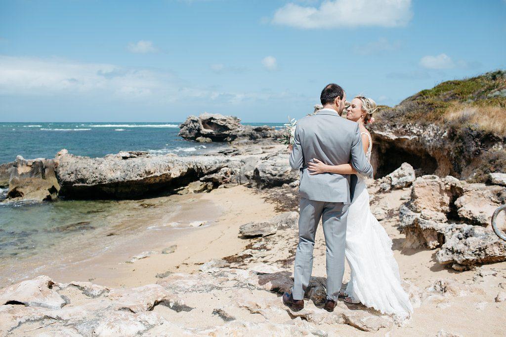 Intimate beachside wedding, Shoalwater Bay, Perth