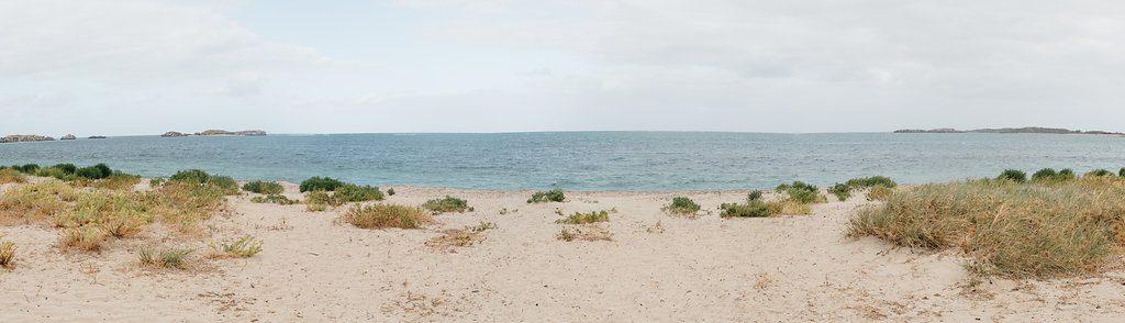 Intimate beachside wedding, Shoalwater Bay.