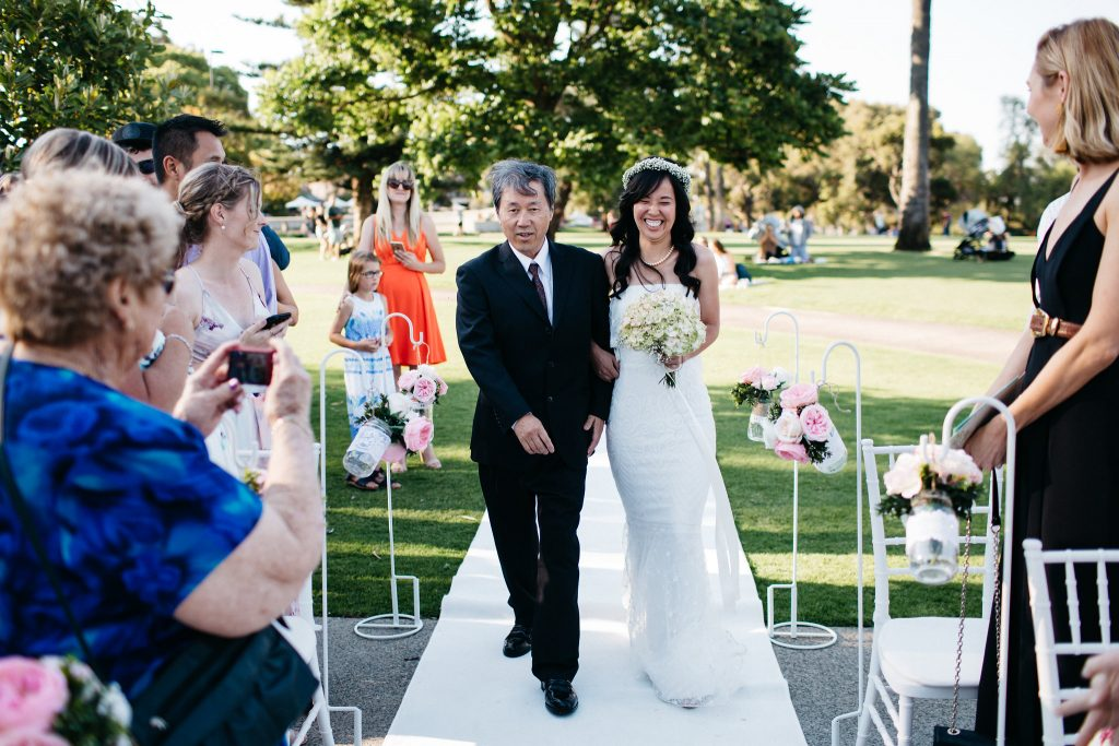 bride and father, Perth Kings Park Wedding