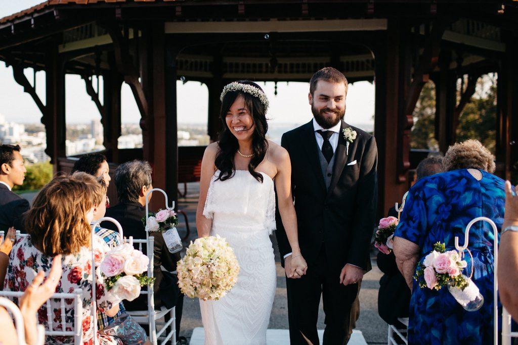 Recession walk, Perth Kings Park Wedding, Rotunda One