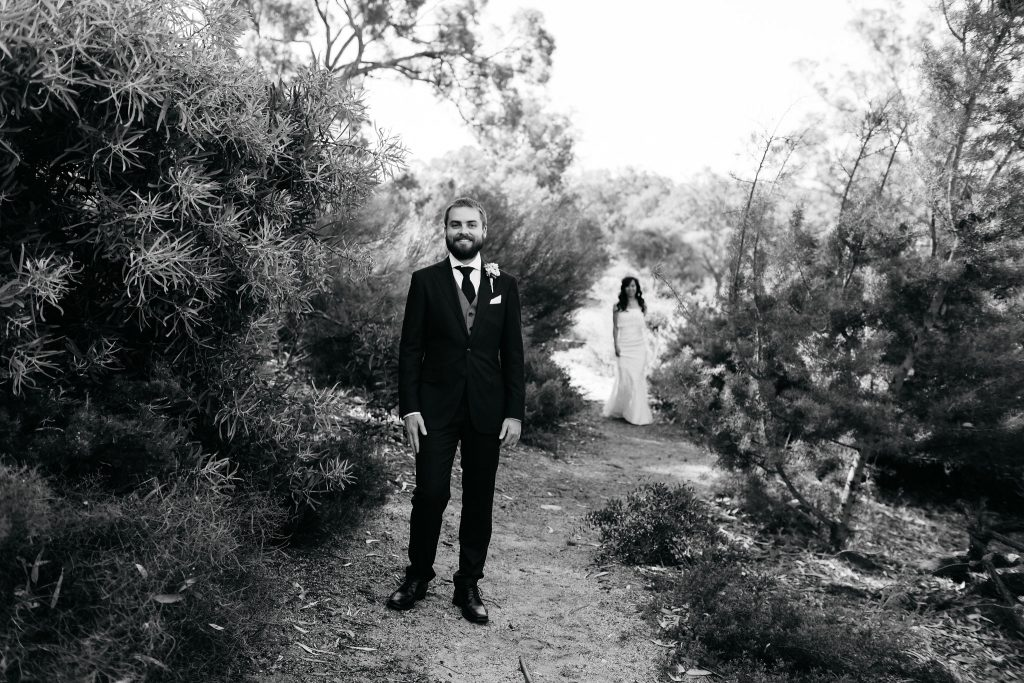 First look, Perth Kings Park Wedding
