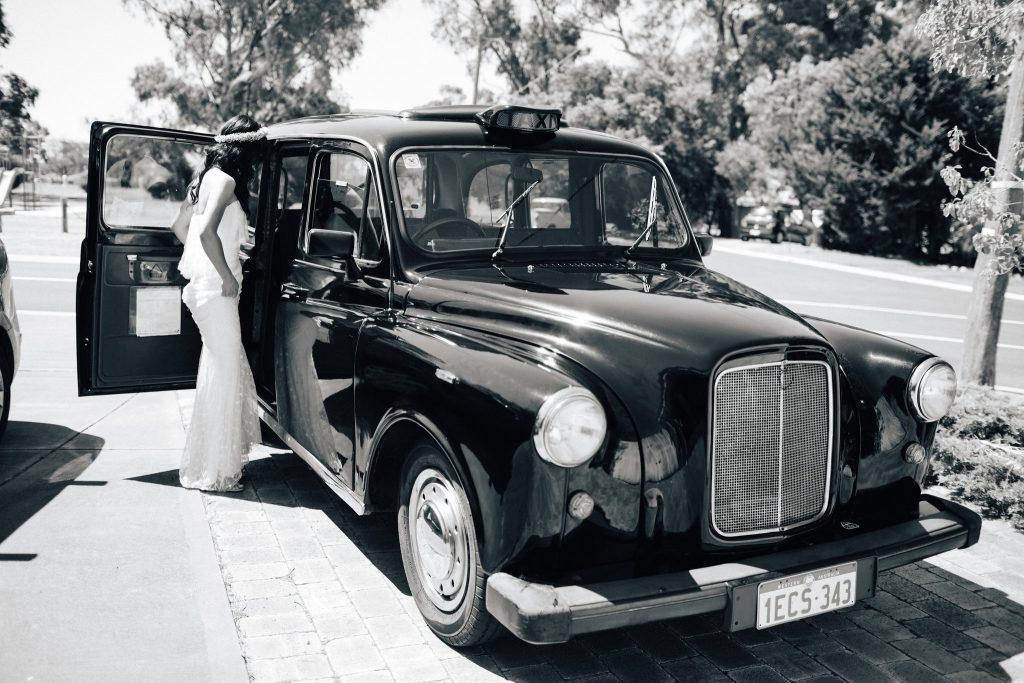 London Taxi Cab, Perth Kings Park Wedding