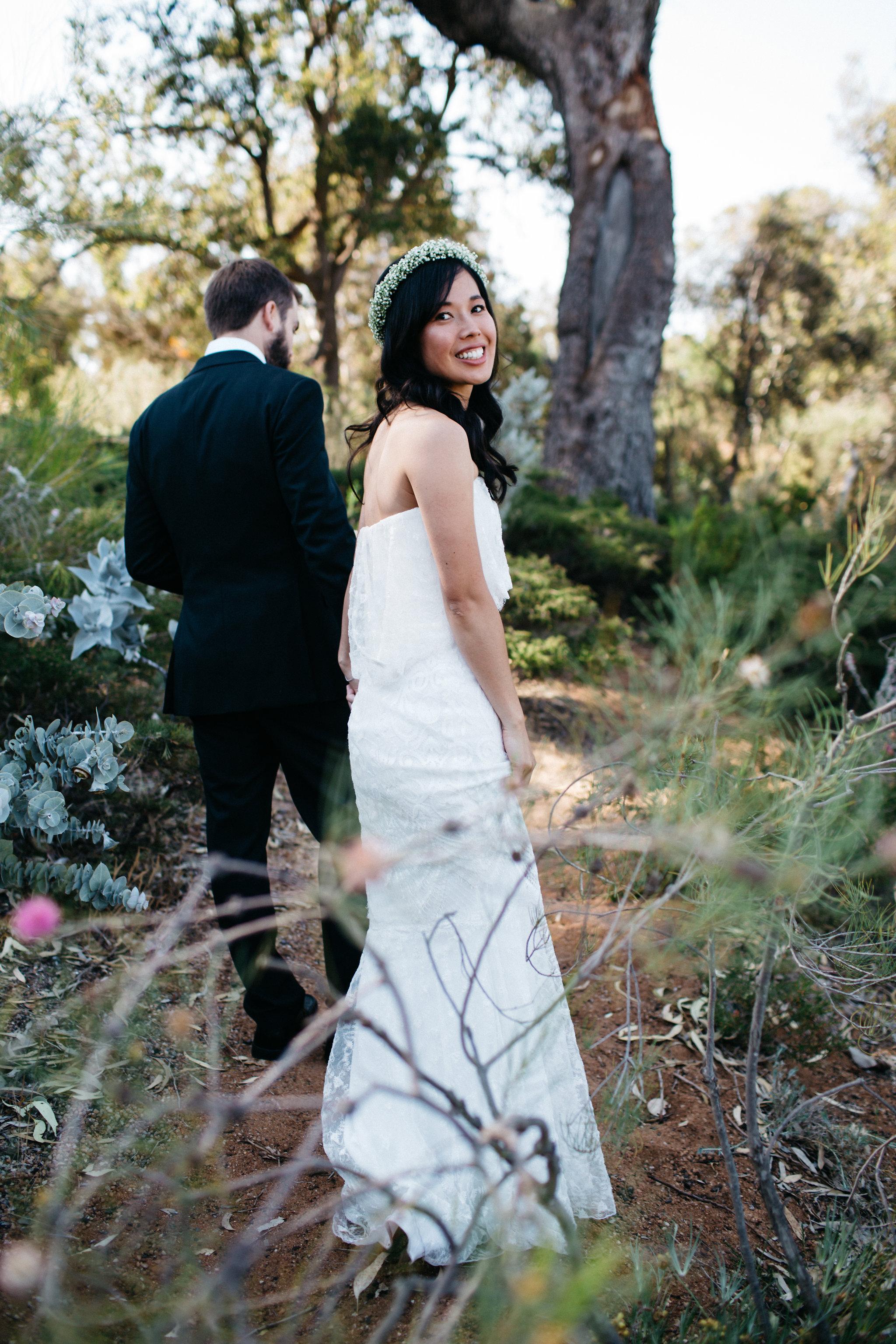 Bride and groom, Perth Kings Park Wedding