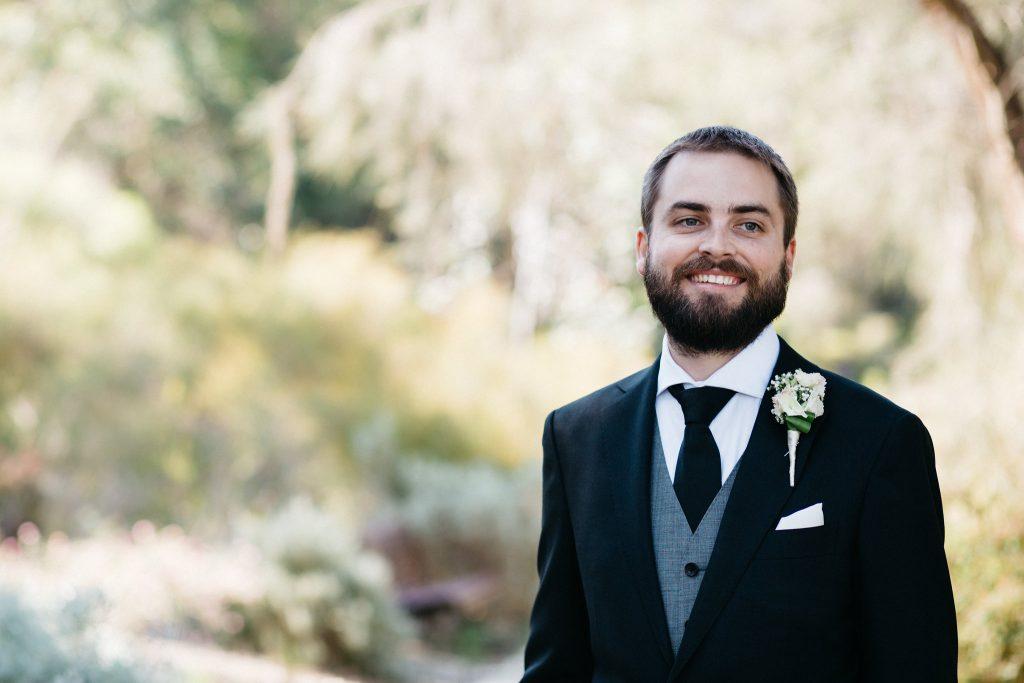 Groom portrait, Perth Kings Park Wedding