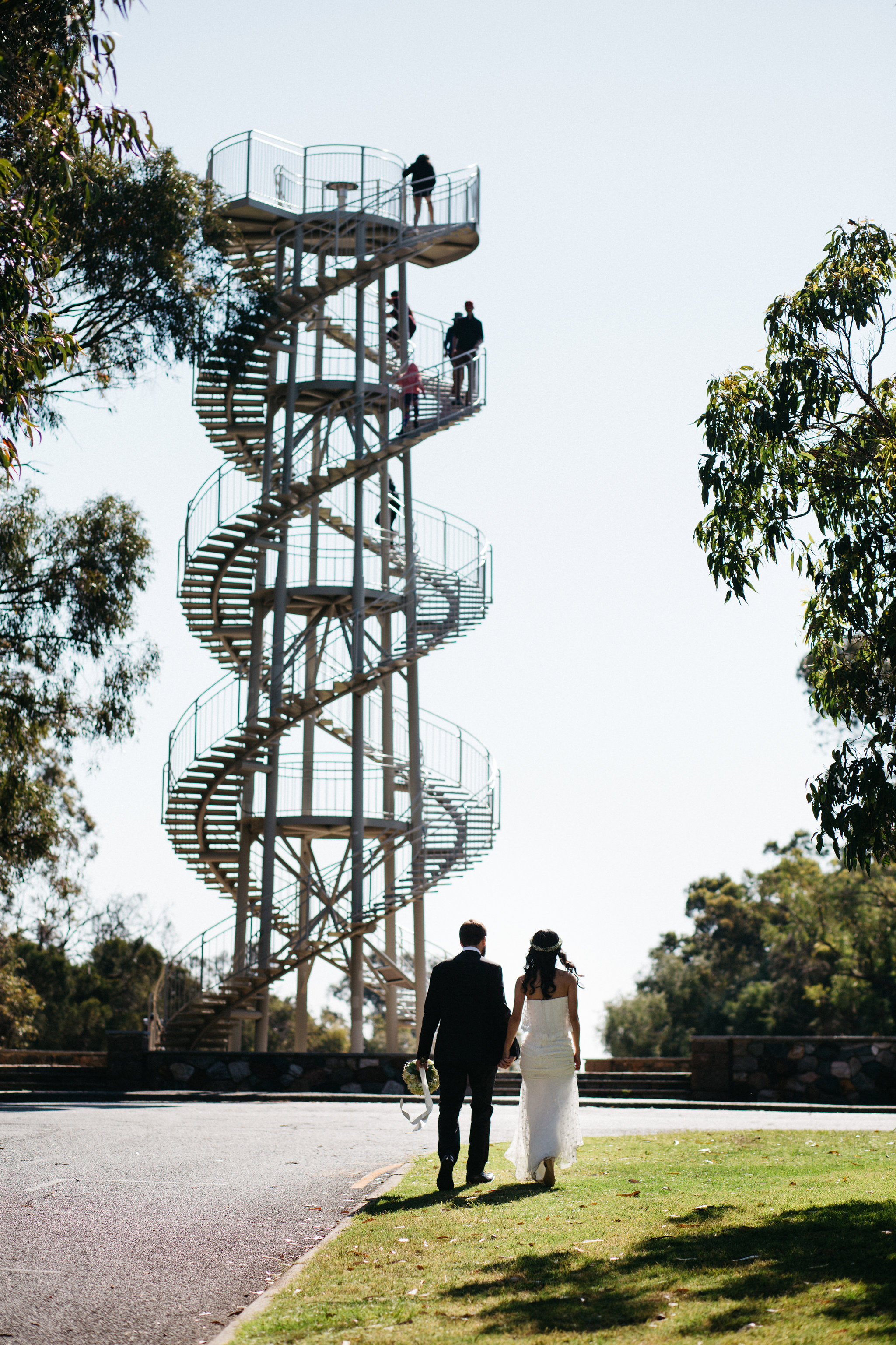 DNA tower, Perth Kings Park Wedding