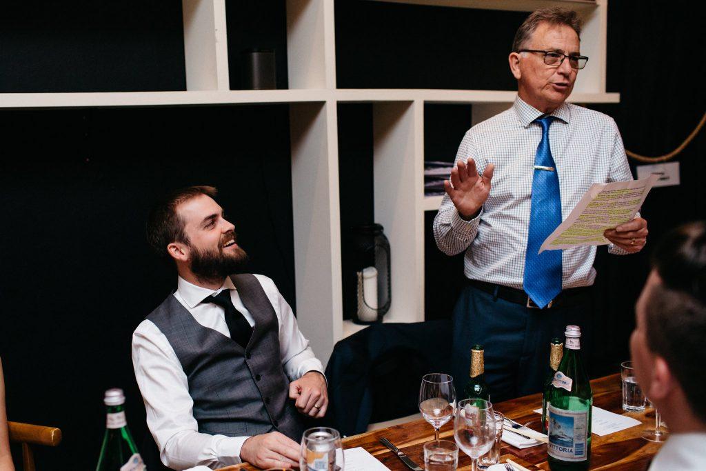 Speeches, Nine Fine Foods wedding