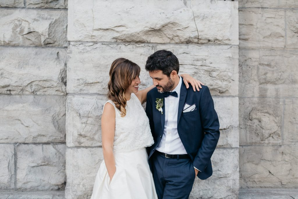 Wedding in Montreal's Old Port