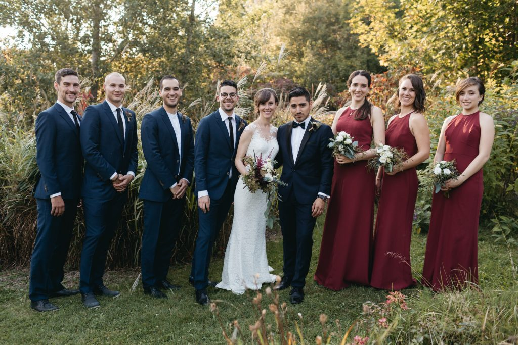 Bridal party at la Maison d'Evelyn, Saint-Jude