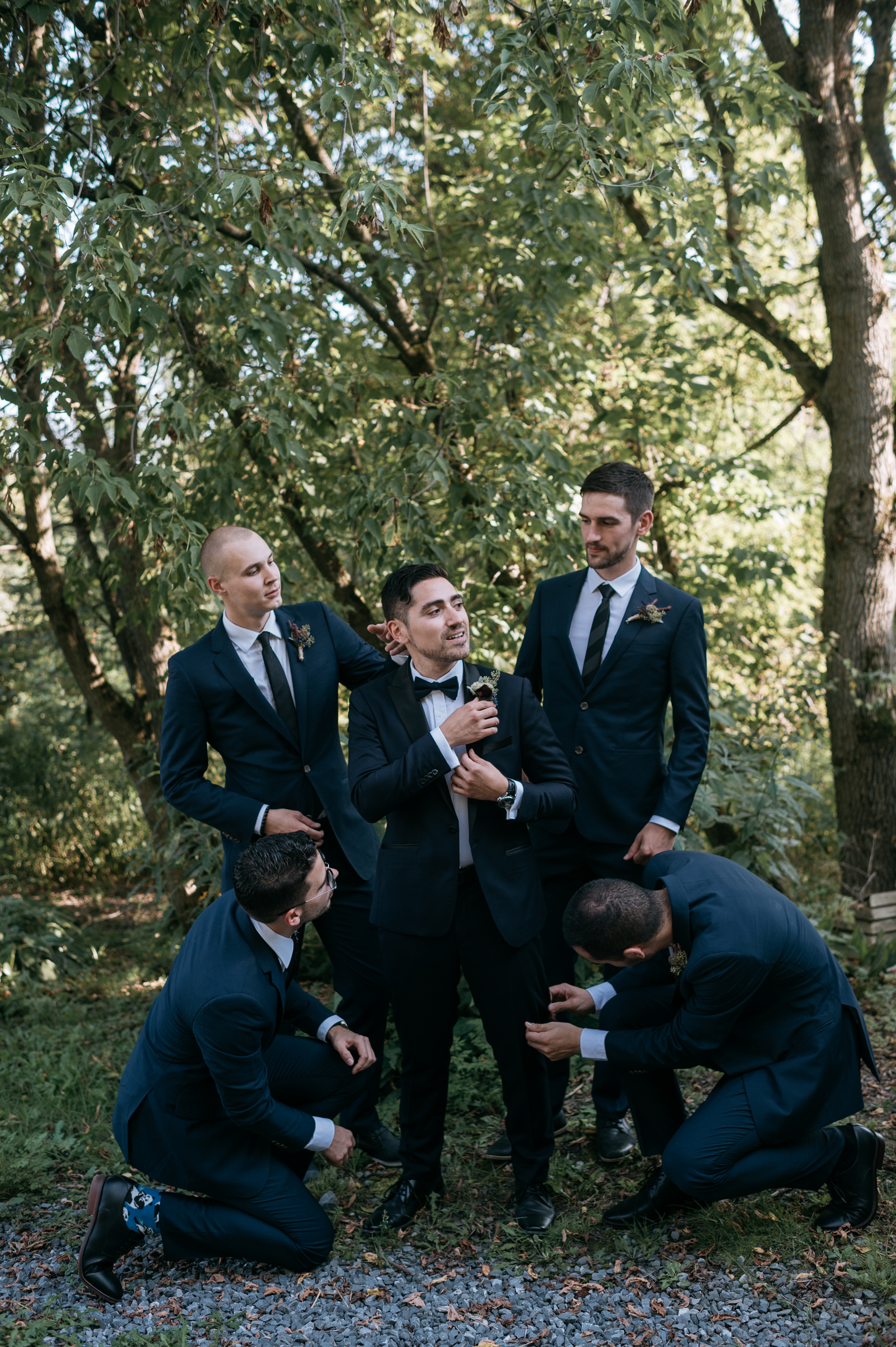 Eastern Townships wedding, groomsmen