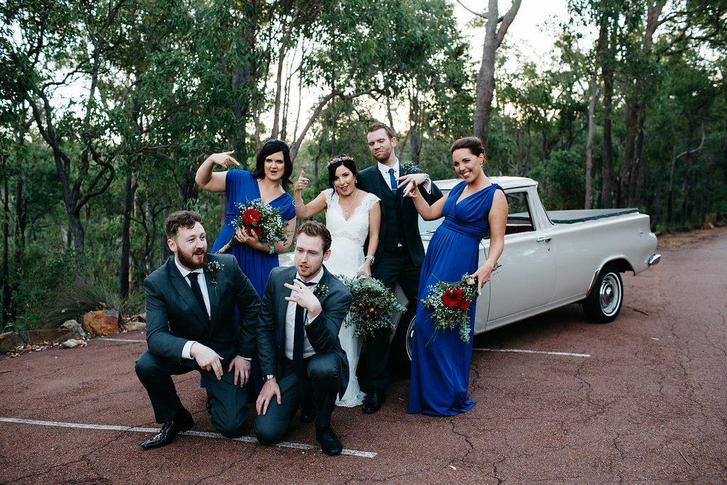 Bridal party Darlington Estate Winery wedding