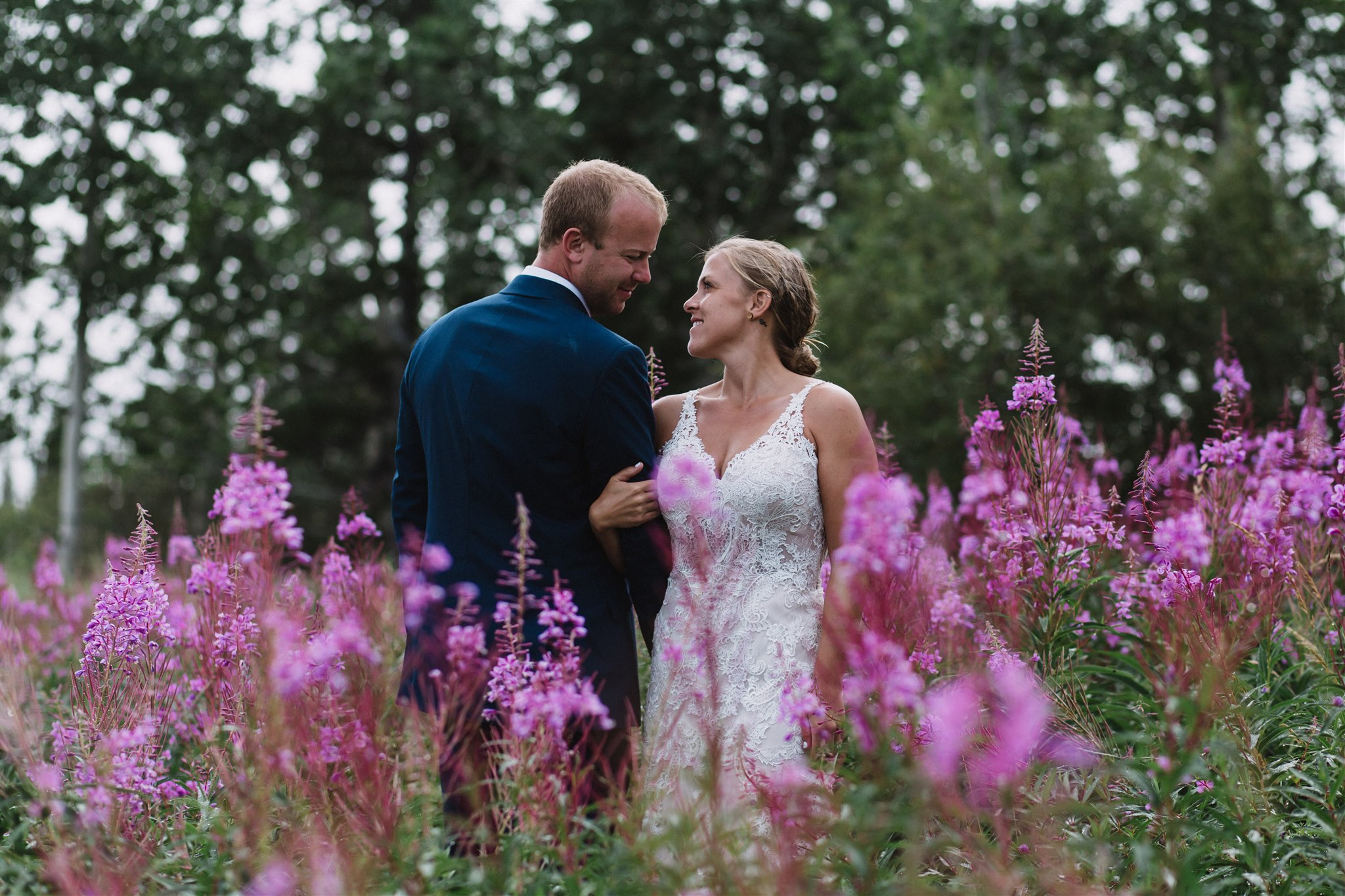 Fireweed flowers, Yukon wedding photography