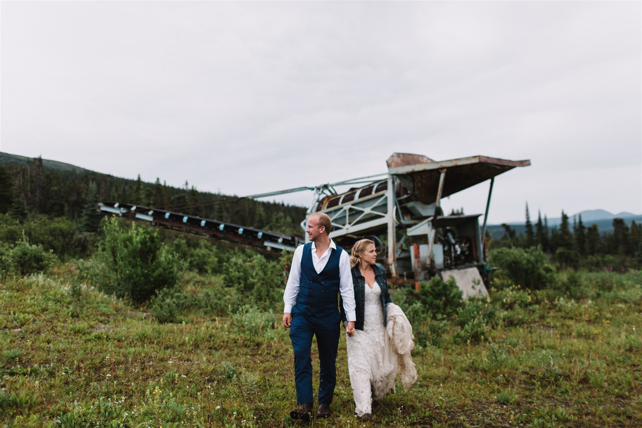 Wedding Photography in historic mining town, Atlin, BC