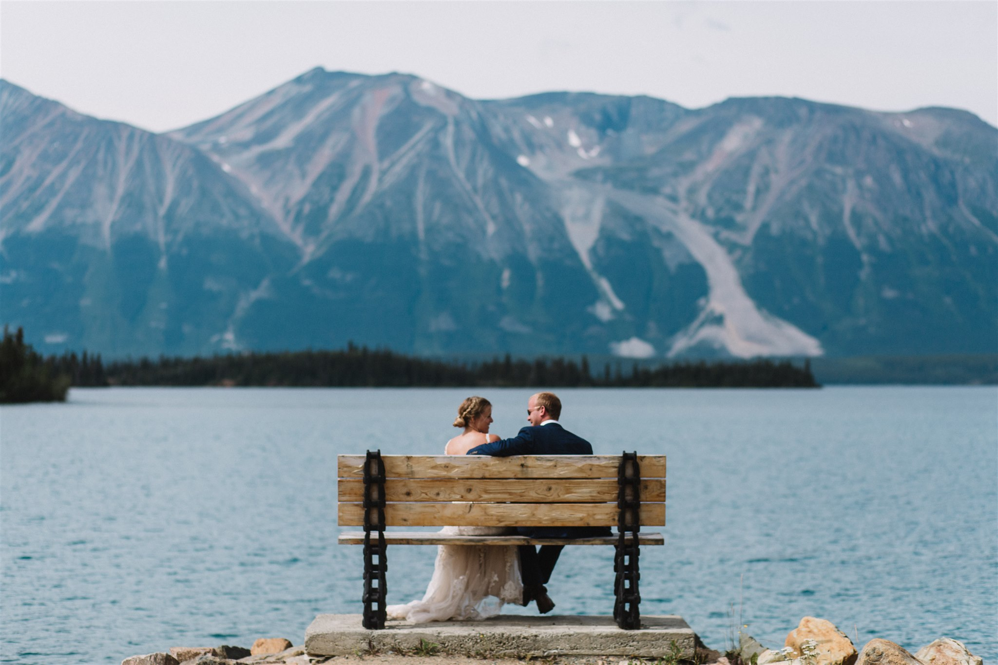 Bride and Groom, Atlin, BC