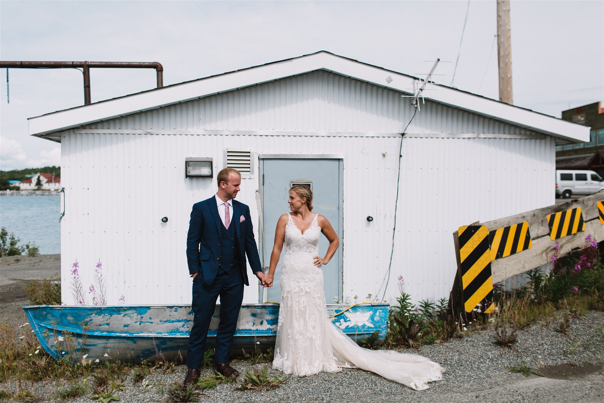 Nicole and Alan's adventure photo session, Atlin BC