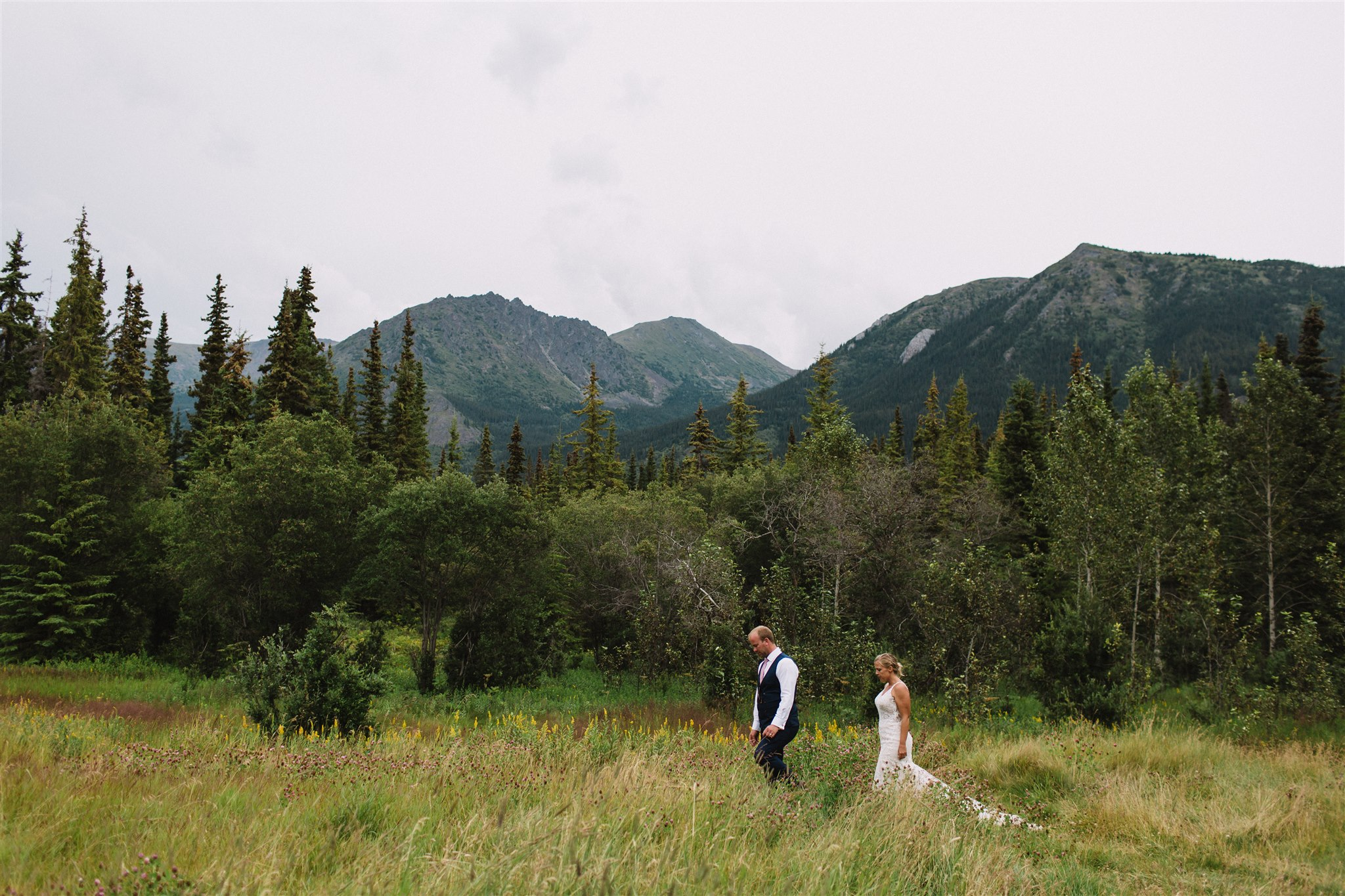Mountain views with Nicole and Alan on their wedding