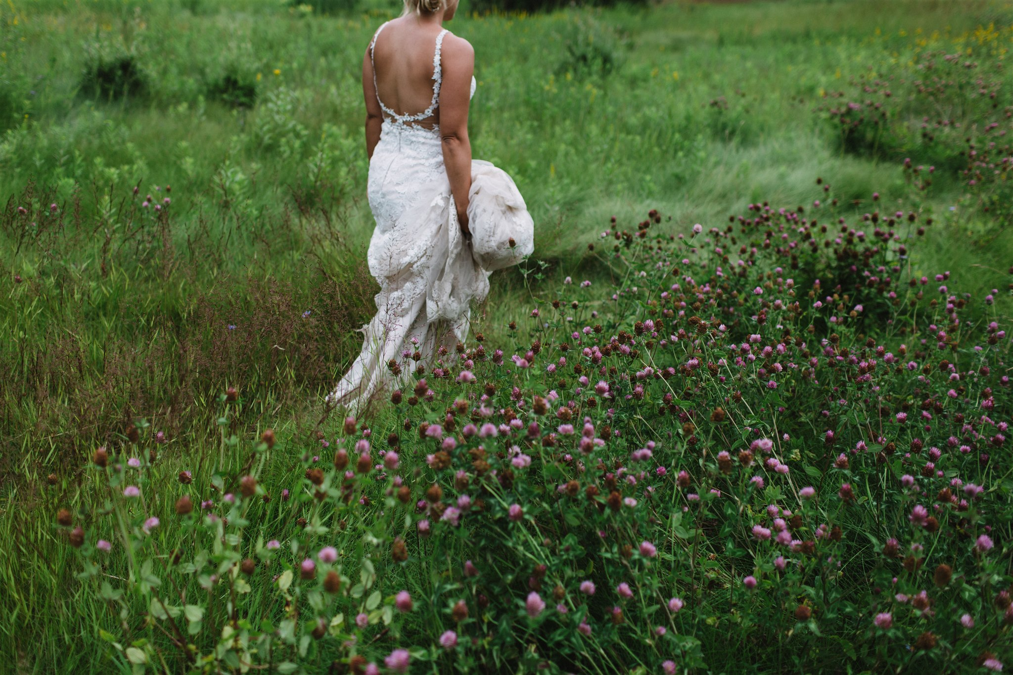 Bridal gown in nature. Atlin, BC
