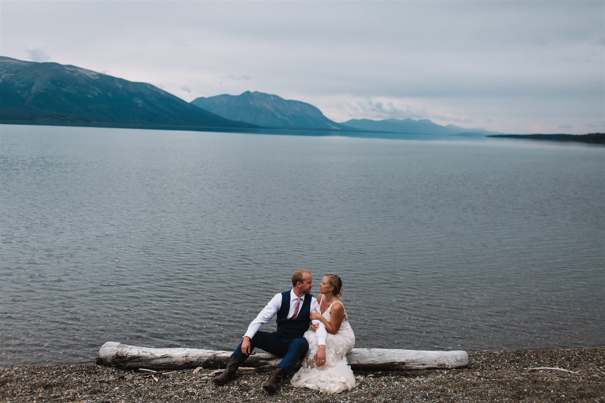 Wedding photography in Atlin, BC