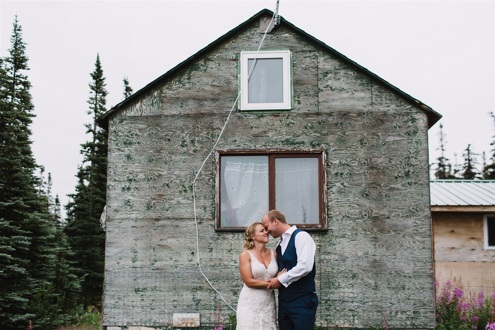 Mining shack wedding photography